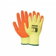 Portwest Orange Latex Grip Gloves A150OR - Medium