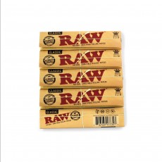 RAW CLASSIC Kingsize Slim Rolling Papers - 5 Packs