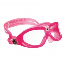 Aqua Sphere 'SEAL KID' youths Swimming Goggles- Pink/White with Clear Lens