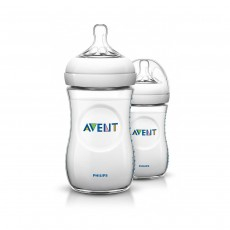 Philips AVENT Natural Feeding Bottle, 260 ml - Transparant, Pack of 2