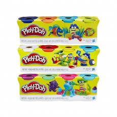 Play-Doh 4-Pack of Colour Dough Creative Modelling - Pack of 3