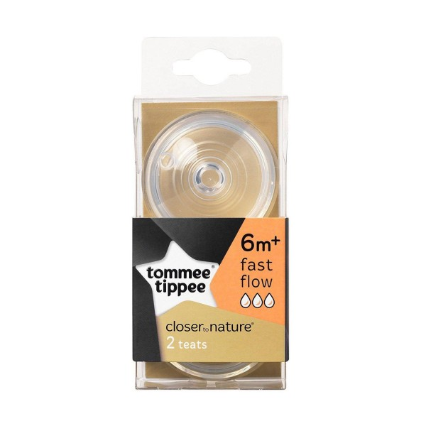 Tommee Tippee Closer to Nature Fast Flow Bottle Teat Pack of 2